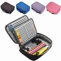 72 Holder Pen Colored Pencil Case School Multi-functional High Capacity Zipper Pencil Bag for Student Art Supplies