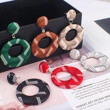 Brincos de gota de círculo geométrico boêmio para as mulheres 2019 brincos de forma feminina artesanal jóias presente atacado