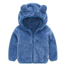 Dziecięce płaszcze 2020 jesienno-zimowa kurtka dla chłopców płaszcze maluch Kid Warm Fleece odzież wierzchnia dziewczyny kurtki dzieci odzież dla niemowląt tanie tanio RACCOON RAIDERS CASHMERE COTTON 0 3kg Moda Stałe REGULAR Kids Jackets Z kapturem Kids winter Jackets Kurtki płaszcze