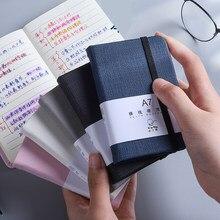 1Pcs A6 A7 Mini Notebook de Bolso Portátil Notepad Memorando Diário Planejador Organizador Agenda Sketchbook Papelaria Escola Escritório 96 folha