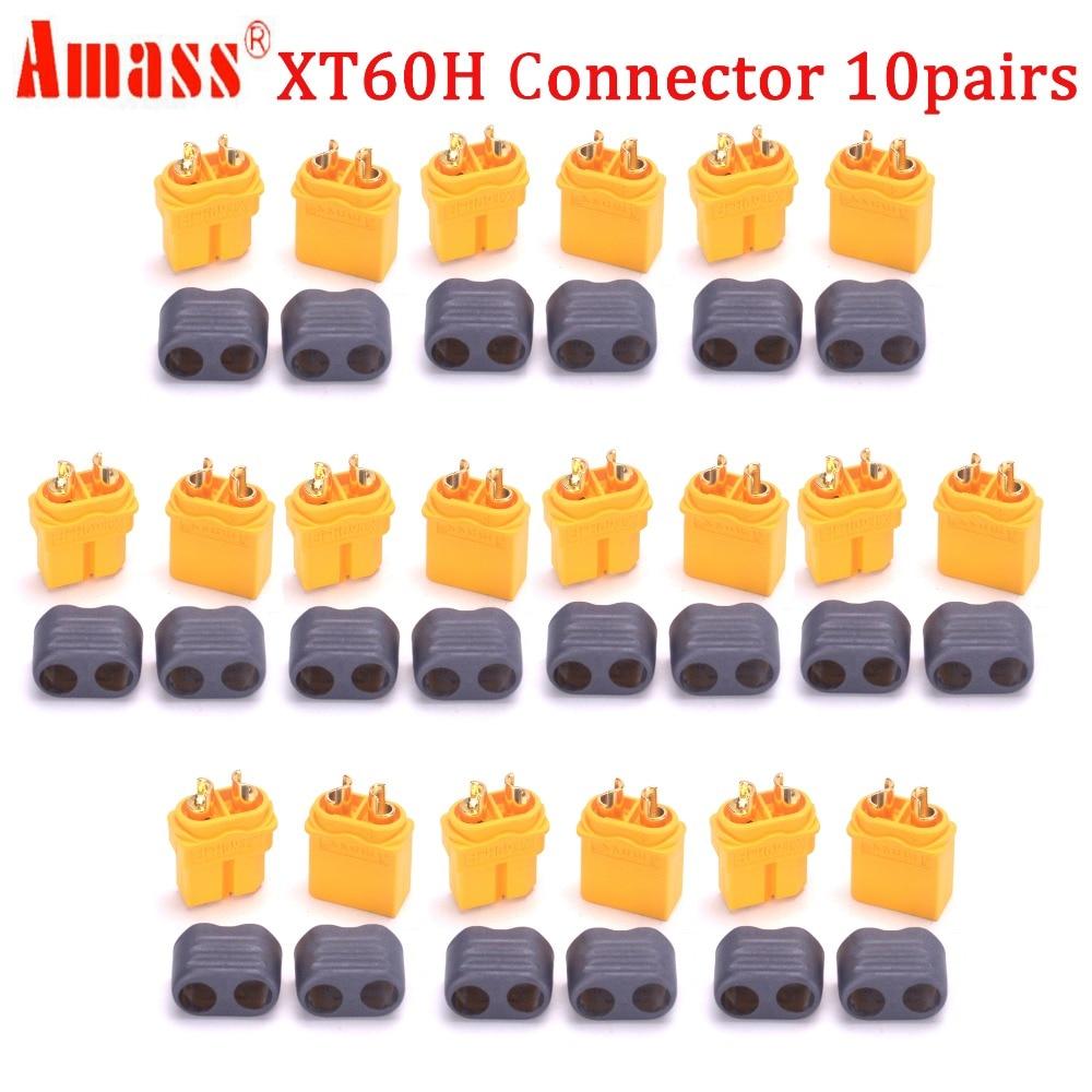 20 шт.(10 пар) Высокое качество XT30 XT30U XT60 XT60H XT60L XT60PW XT90 XT90S разъем для батареи мультикоптера - Цвет: Amass XT60H Plug