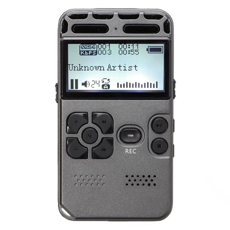 64G перезаряжаемый ЖК Цифровой Аудио Звук Диктофон MP3-плеер