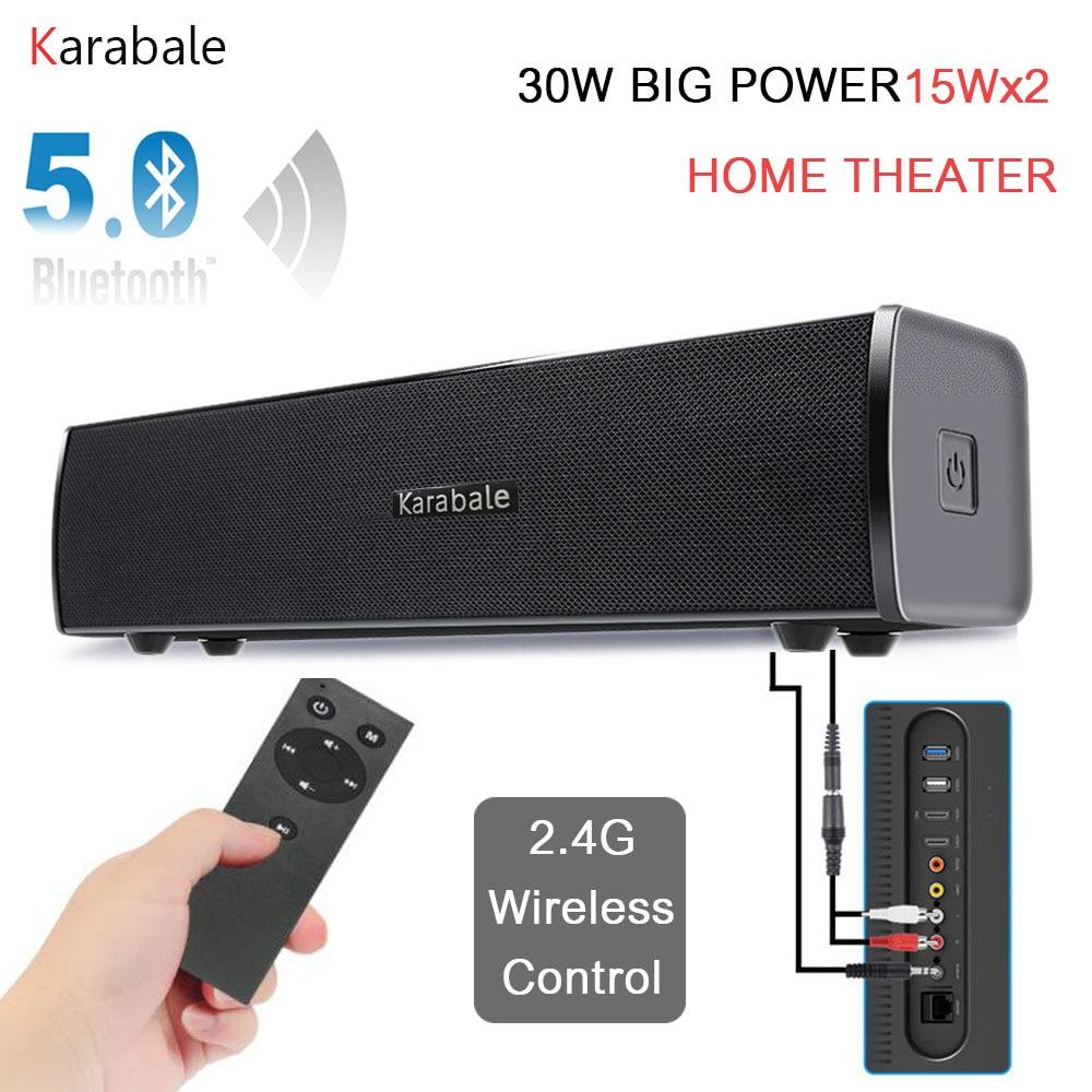 Subwoofer Portable Speaker Soundbar Remote-Control Desktop Heavy-Bass Bluetooth Home Theater