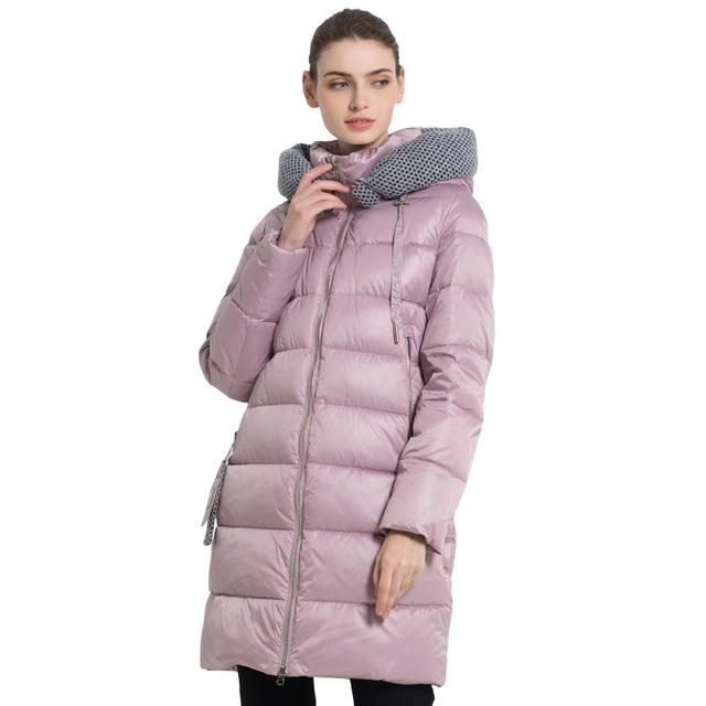ICEbear2019 Новые женские зимние куртки с капюшоном Женская одежда толстые теплые женские пальто ветрозащитный дамы парки высокого качества бренд одежды GWD19600