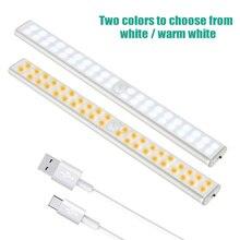 LED Under Cabinet Light Closets PIR Motion Sensor Lamp 24 40