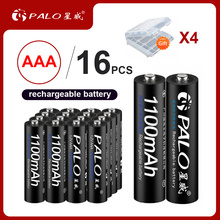 PALO 100% Original  16pcs/lot 1.2V 1100mAh NI-MH AAA rechargeable battery for MP3 MP4 Microphone toy car batteries