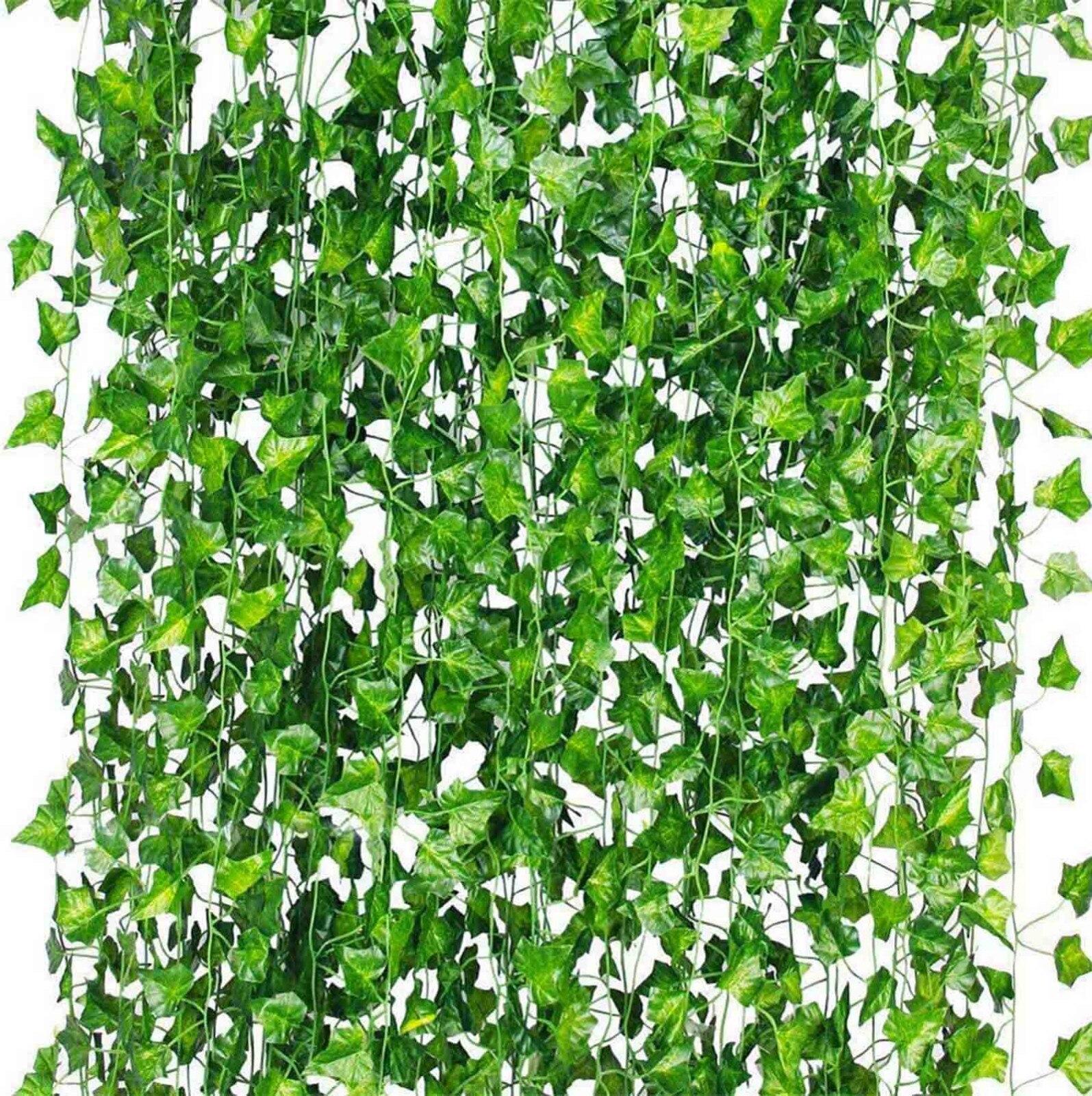 12 нитей 86 FT домашний Декор Искусственный гирлянда из листьев плюща растения искусственная Виноградная лоза Листва Цветы Creeper зеленого цвет...
