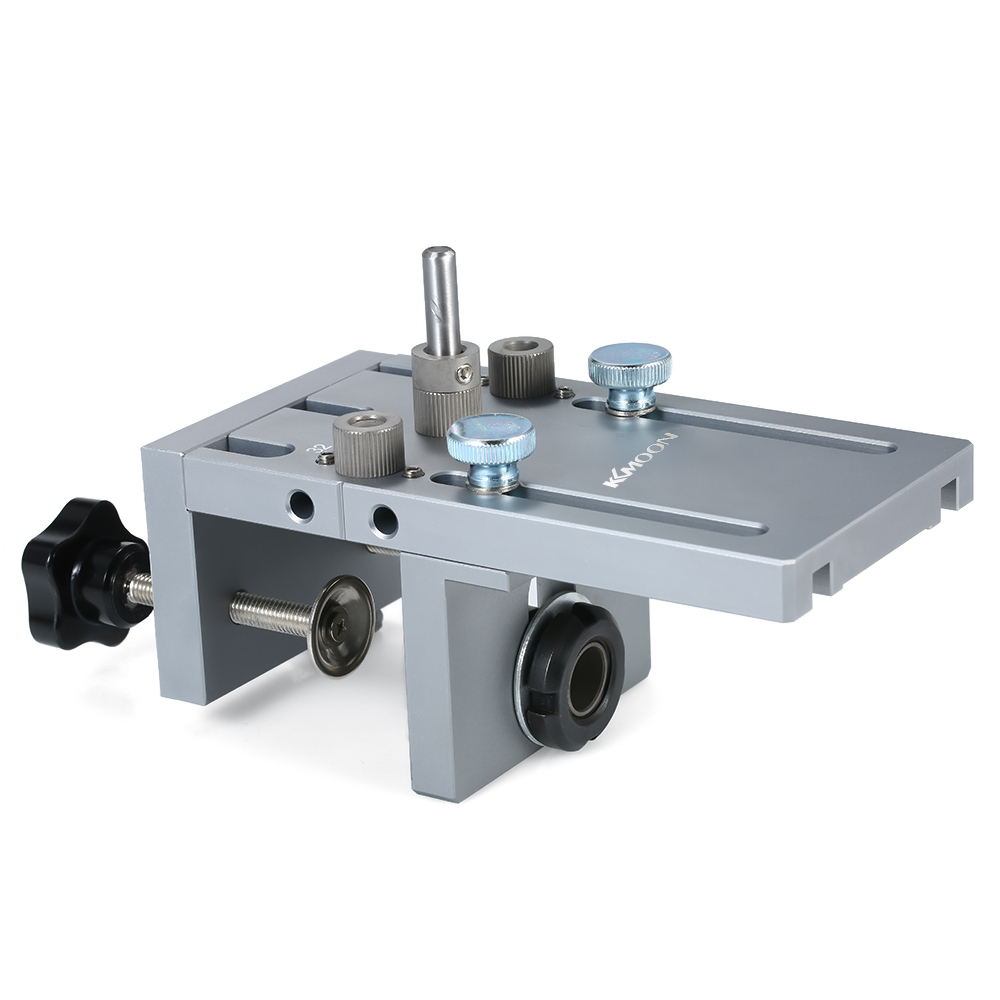 KKmoon 3-in-1 Punch Positioner With Clamp Punching Locator Hole Drill Punch Positioner Guide Locator Jig Dowelling