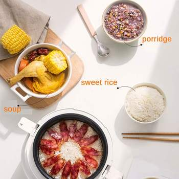 Multifunction 2L Mini Rice Cooker 220V 400W Smart Home Kitchen Electric Food  Steamer Pot 24H Appointment for 1-3 People 3