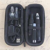 Kits de cigarrillo electrónico Yunkang EVOD portátil 4 en 1 vaporizador cera de hierbas hierba seca Vape Pen Kit batería integrada con atomizador
