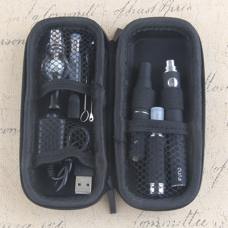 Yunkang EVOD Electronic Cigarette Kits Portable 4 In 1 Vaporizer Herbal Wax Dry Herb Vape Pen Kit Built-in Battery With Atomizer