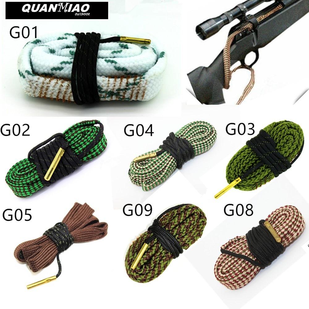 Hunting Gun Bore Cleaner Snake.22 Cal.223 Cal.38 Cal& 5.56mm,7.62mm,12GA Rifle Cleaning Kit Tool Rifle Barrel Calibre Snake Rop