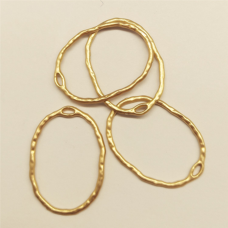 Large Oval Open Back Frame With Irregular Wavy Border Oval Deco Frame For Resin Jewellery Making Jewelry Bezels Jewelry Findings
