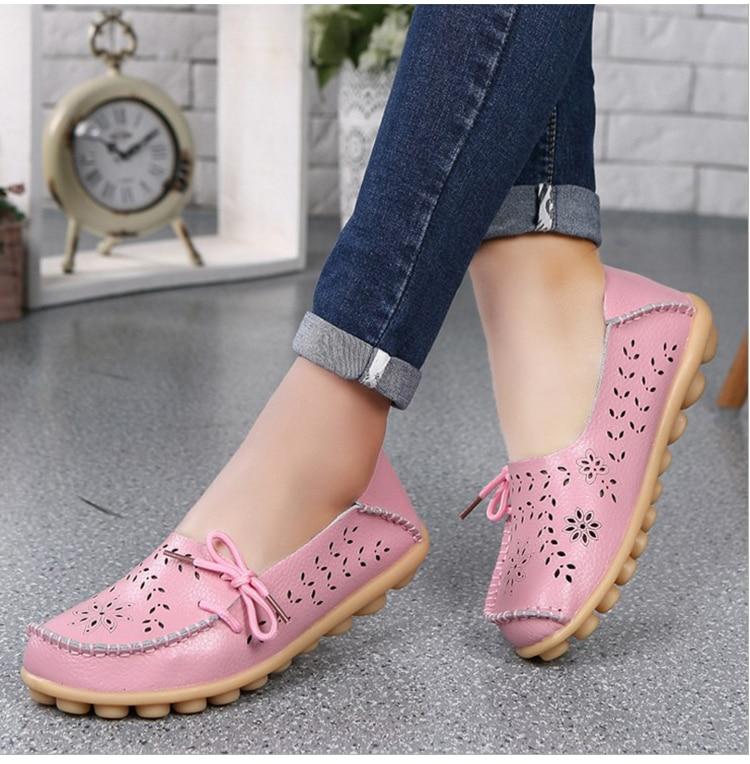 mocassins deslizamento-on feminino apartamentos mocassins senhoras condução sapato mãe calçado