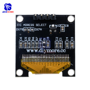 """Image 2 - diymore 0.96"""" 12864 SSD1306 OLED LCD Display Module I2C IIC Serial with Pin for Arduino 51 MSP430 Series STM32/2 CSR IC"""