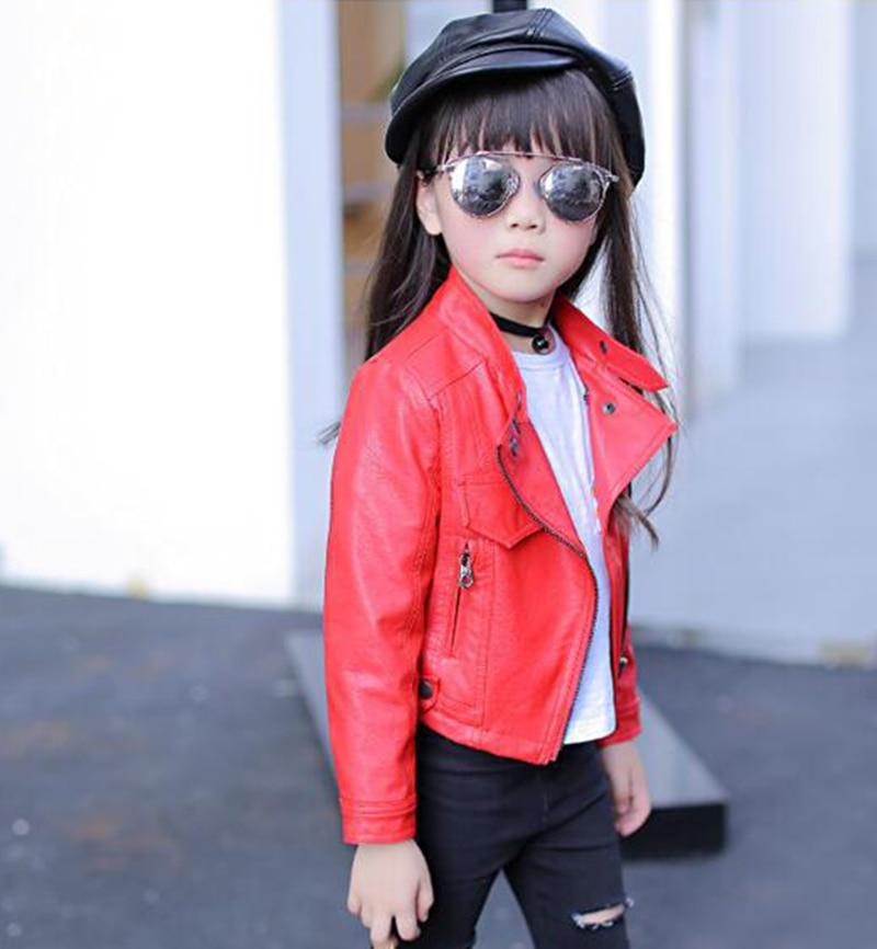 Baby Girls Boy Overwear 2021 Spring Autumn Winter PU Coat Jacket Kids Fashion Leather Jackets Children Coats Overwear Clothes 4