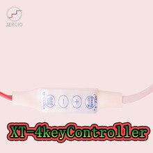 JERCIO 1pcs DC5-24V XT-4key ws2811 ws2812b sk6812 ucs16703 TM1814 magic led strip controller
