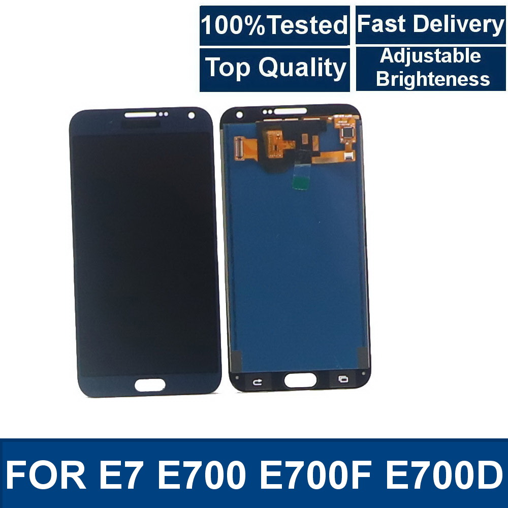 100%Tested For SAMSUNG Galaxy E7 E700 E700F E700H phone LCD Display Touch Screen Digitizer Assembly With brightness control