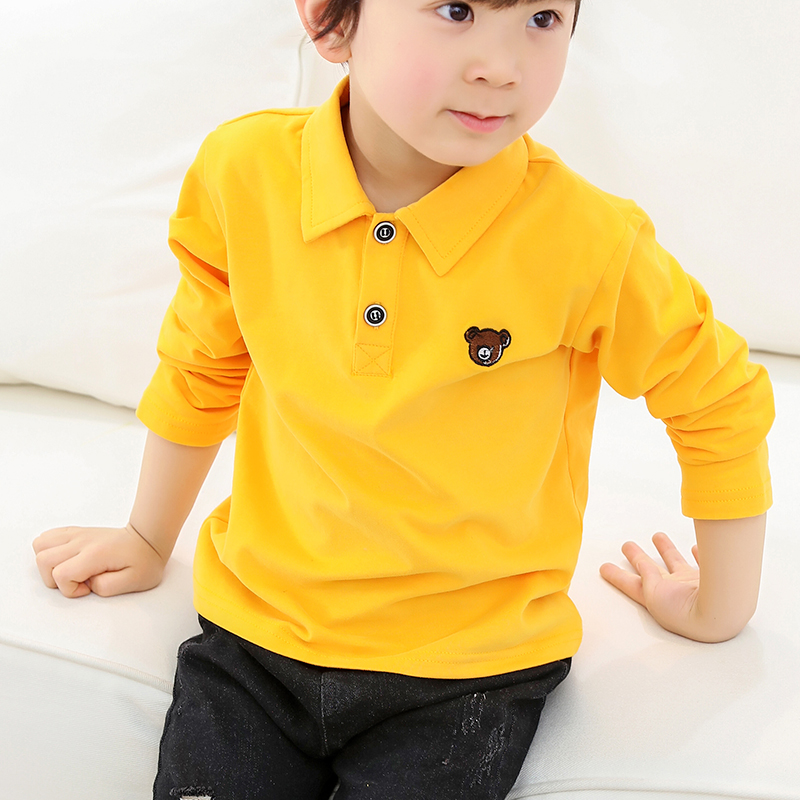 Polo Shirt Boys 2019 Summer Autumn Children's Clothing Toddler 100% Cotton Tops Tee Baby Boy Kids Bobo Bebe Polo Shirt 2-7Y