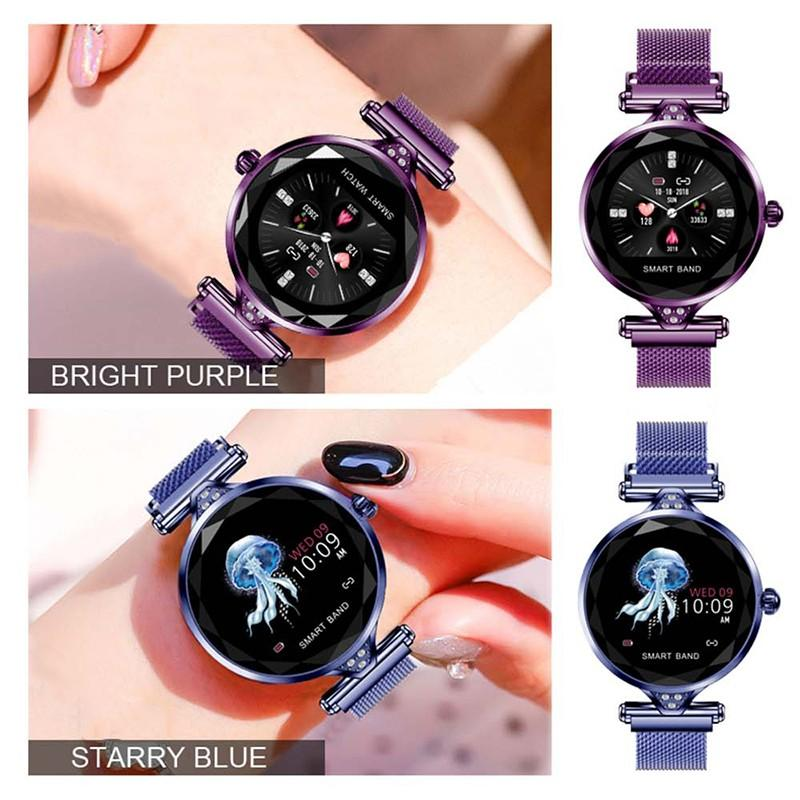 Hb7044037863b4778b8bf6cfa6d807ba4m 2021 Fashion Smart Watch Women IP68 waterproof Multi-sports modes Pedometer Heart Rate smartwatch Fitness Bracelet for Lady Gift