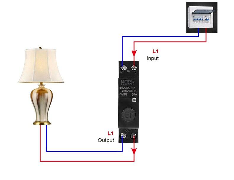 Hoch RDCBC-1P não interruptor de controle remoto
