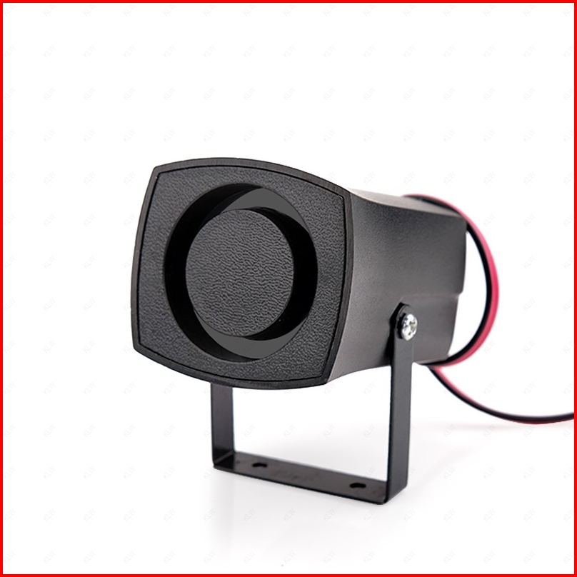 12V / 24V <font><b>120dB</b></font> 6 Tone Mini Siren House Alarm Siren DC Small Car Horn Home Speaker System Reverse Backup Notice <font><b>Buzzer</b></font> image