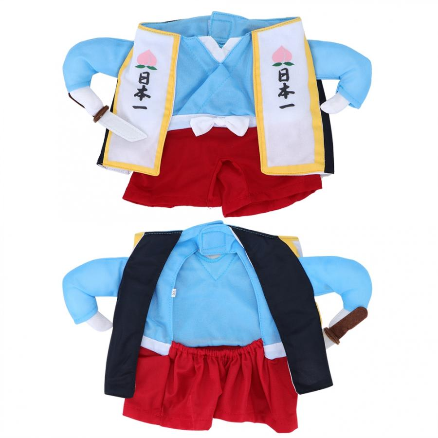 Polyester Cute Pet Halloween Clothes Samurai Funny Upright Costume Dress Up for Dogs Clothes Dog Costume Disfraces Para Perros
