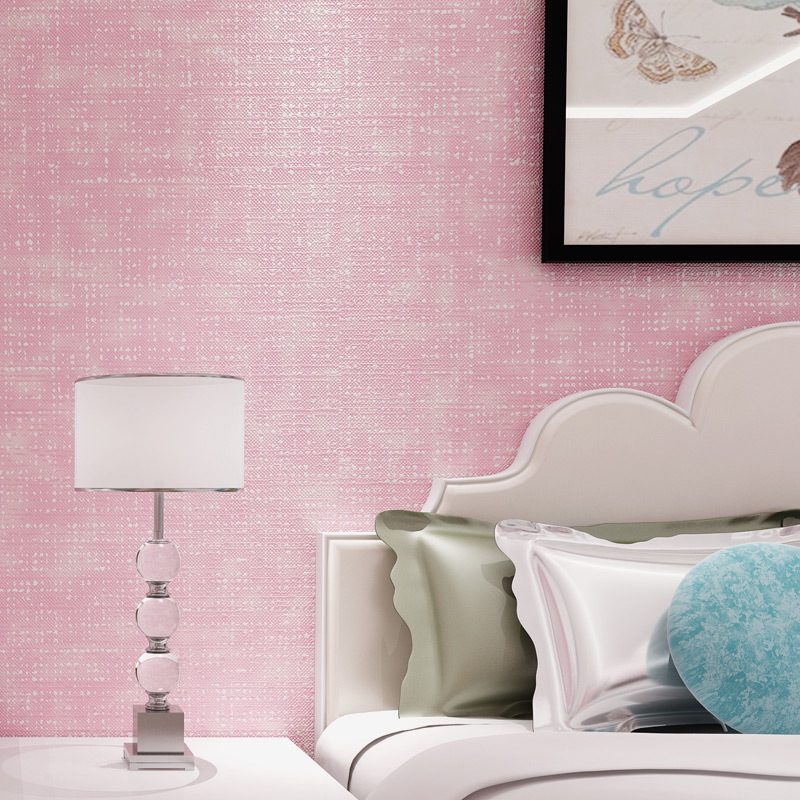 Hotel Walkway Plain Color Wallpaper Bedroom Living Room Solid Color Plain Color Northern European-Style Wallpaper TV Backdrop No