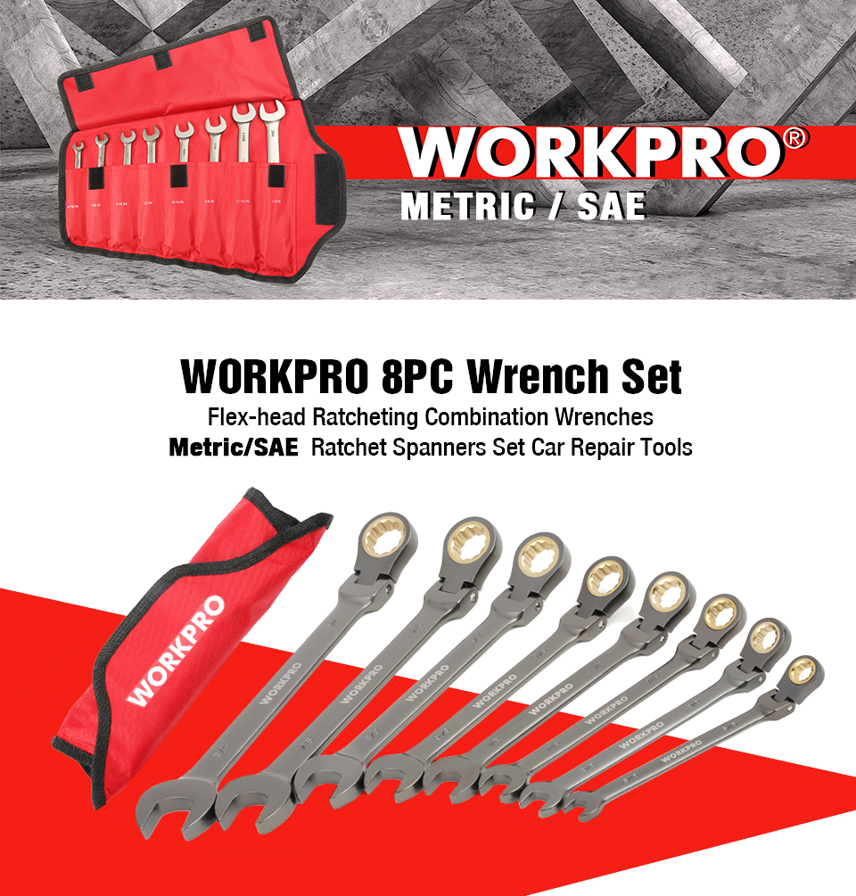 WORKPRO 8PC Wrench Set