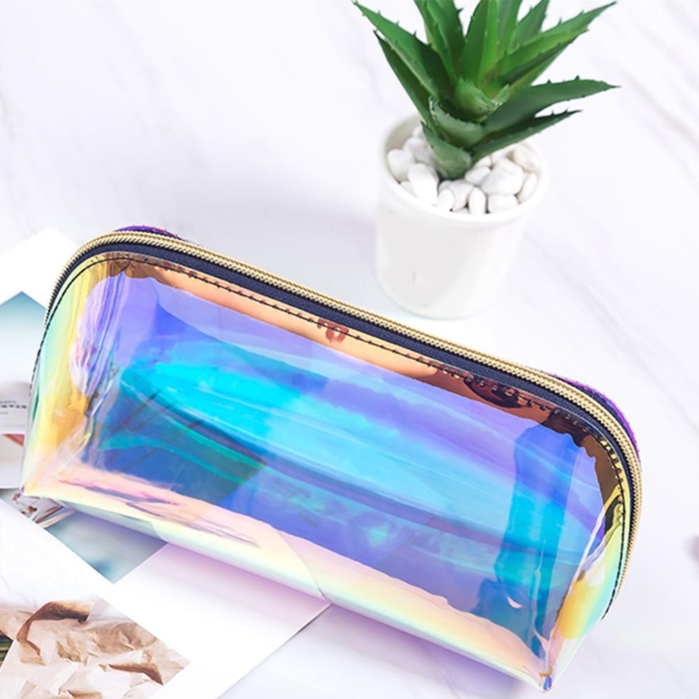 Fashion Pouch Make Up Women Waterproof Zipper Travel Transparent Cosmetic Bag TPU Casual Storage Case Portable Clutch