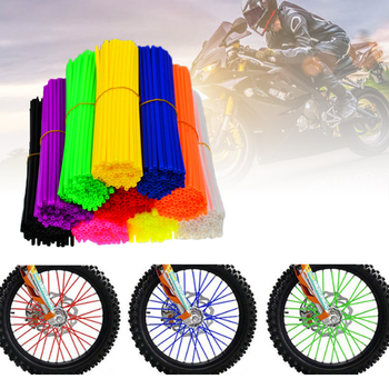 72Pcs Bike Wheel Spoke Decoration Protector Colorful Motocross Rims Skins Covers Off Road Bike Guard Wraps Kit Motorcycle Guard 36pcs motorcycle bick wheel rim spoke skins covers wrap tubes decor