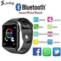 Reloj inteligente con notificaciones de sincronización, compatible con tarjeta SIM TF, conectividad para Apple, Iphone, teléfono Android