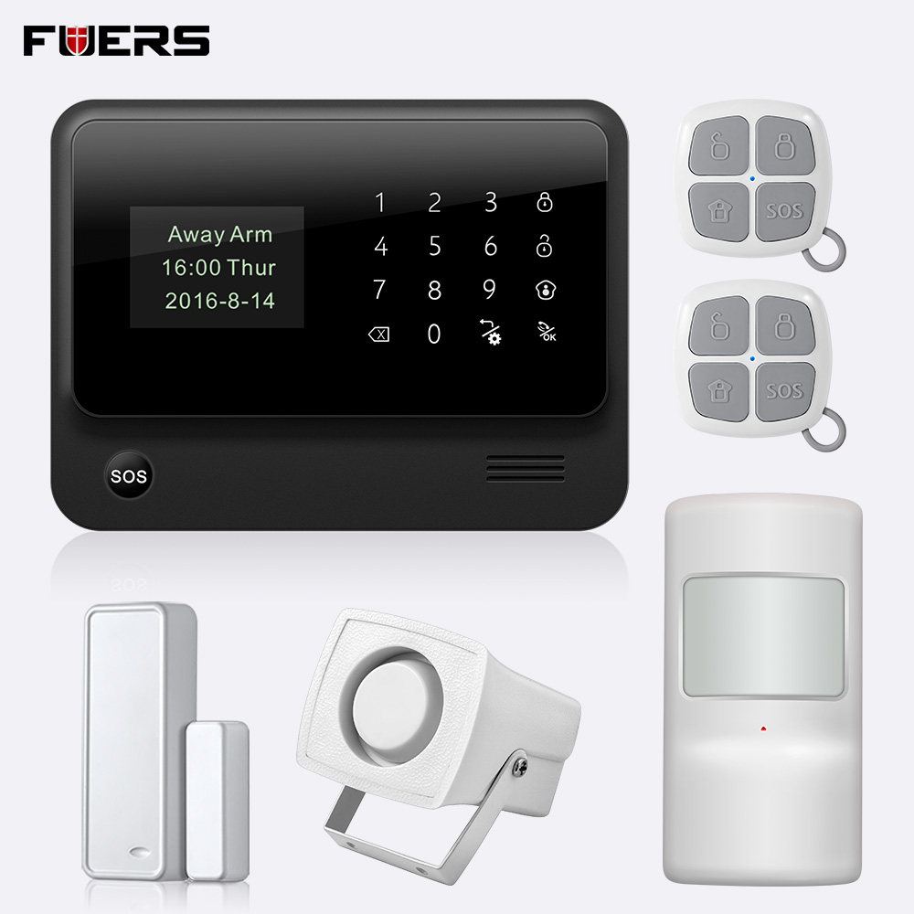 FUERS 2019 G90B-PLUS 2G GSM Alarm System APP Remote Control Smart Home Intelligent 2.4G GSM GPRS SMS Wifi Alarm System Security