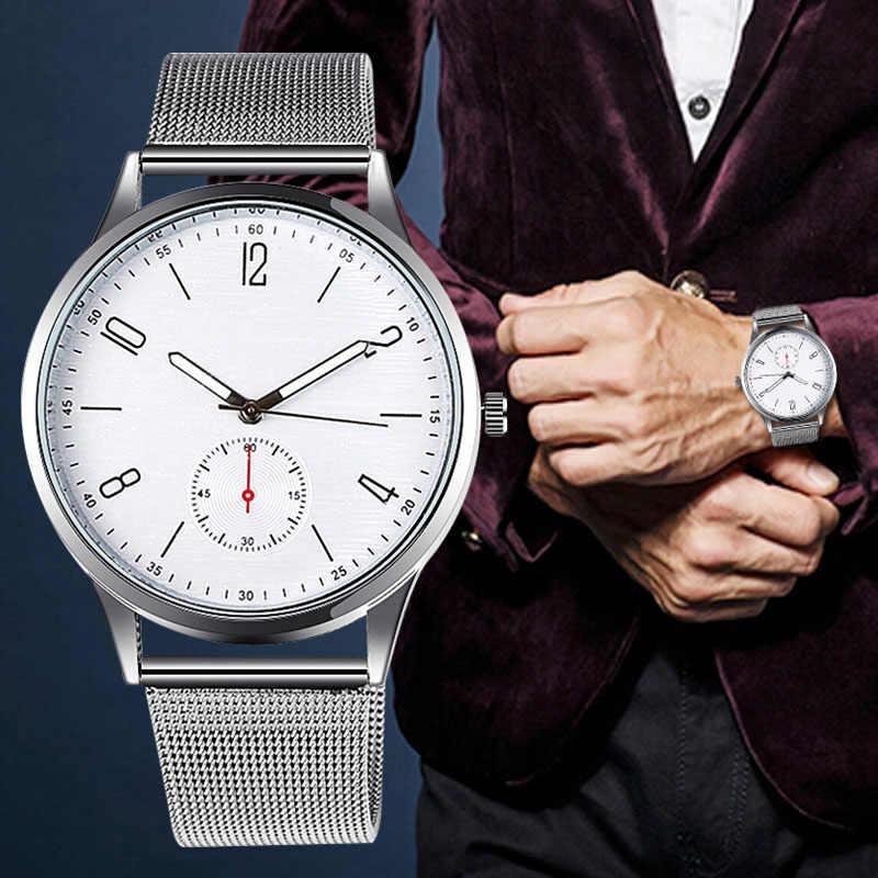 WJ-8074 lüks erkek saatleri Altın Gümüş çelik ızgara Kayış Numaraları Klasik kuvars Iş Batı Tarzı Bilek Saatler erkek saat