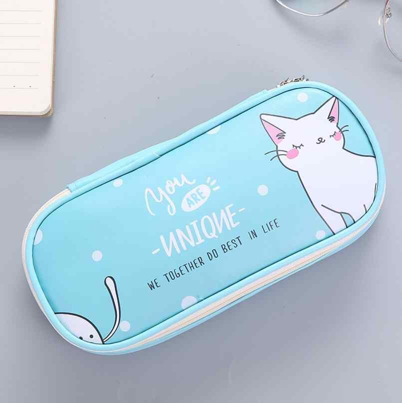 Бесплатная доставка, милый школьный пенал с рисунком из мультфильма, искусственная кожа, хорошее качество, милый кролик, большой размер, ручка, сумка, купить 2, отправить подарок