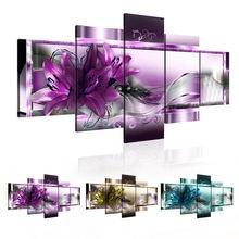 5 шт декоративные настенные картины с цветами лилии