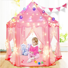 Kids Tent Portable Foldable Childrens Ball Play House Castle Toy Teepee Christmas Gift Dectration Wigwam For Events