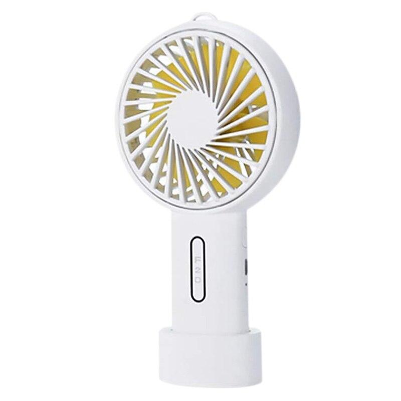 Mini Handheld Fan With Base 3 Speed Usb Cooling Fan Home Office Desktop Fan