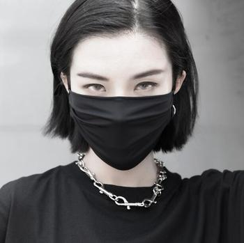 Men Women's spring summer thin mask lady's PM 2.5 breathable black punk summer sunscreen mouth-muffle R2734