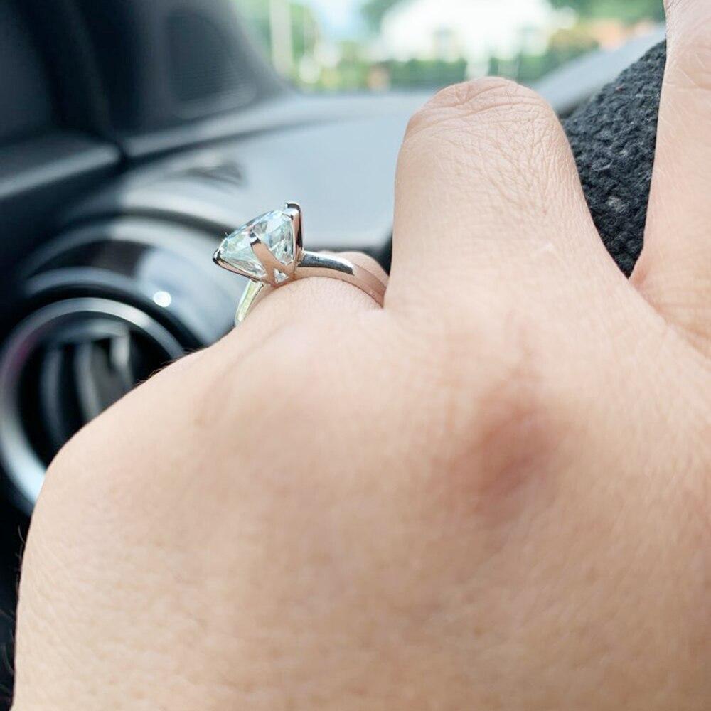 anel de diamante teste passou jóias mulher namorada presente