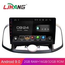LJHANG 10,1 дюймов Android 9,0 автомобильный dvd-плеер для Chevrolet Captiva 2012 2013 gps навигация 1 Din автомагнитола стерео