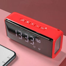 Home Theater Bluetooth Speaker Clock Alarm Speaker Portable Column Bluetooth Sound Box Music System with TF AUX U-Disk Fm Radio