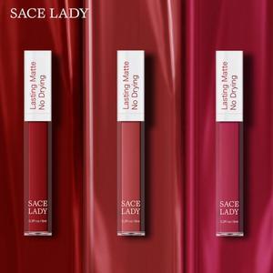 19 Colors Matte Lipstick Waterproof Lips Makeup 12 Hours Stay Liquid Make Up Cosmetic Lipstick Red Lip Matte Lipstick TSLM1