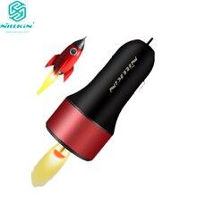 Adaptador de cargador de coche NILLKIN USB de carga rápida 3,0 cargador de teléfono móvil tipo C cargador rápido para iPhone 8/8 Plus/X para Samsung