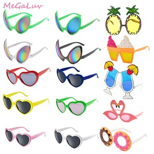 1pc Hawaii Party Sunglasses Summer Beach Pool Party Favors Flamingo Donuts Pineapple Ice Cream Heart Sun Glasses Party Toys