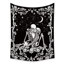 Skull Tapestry Carpet Cloth Flower Wall-Hanging Starry Witchcraft Home-Decor Ceiling-Room