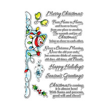 Warm Christmas Phrases Clear Stamps Snowmen&Warm Winter For DIY Card Making Kids Transparent Silicone Stamp New 2019