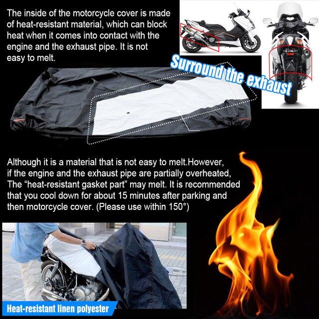 230cm 90.5 pouces Universals 300D pluie preuve étanche poussière UV soleil neige moto couvre moteurs Scooter couverture protecteur D30