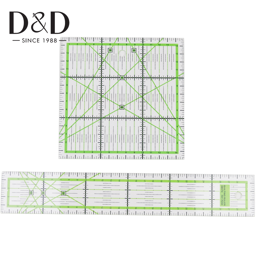 3Pcs Square Acrylic Quilting Ruler Set for Tailor DIY Clothes Sewing Pattern