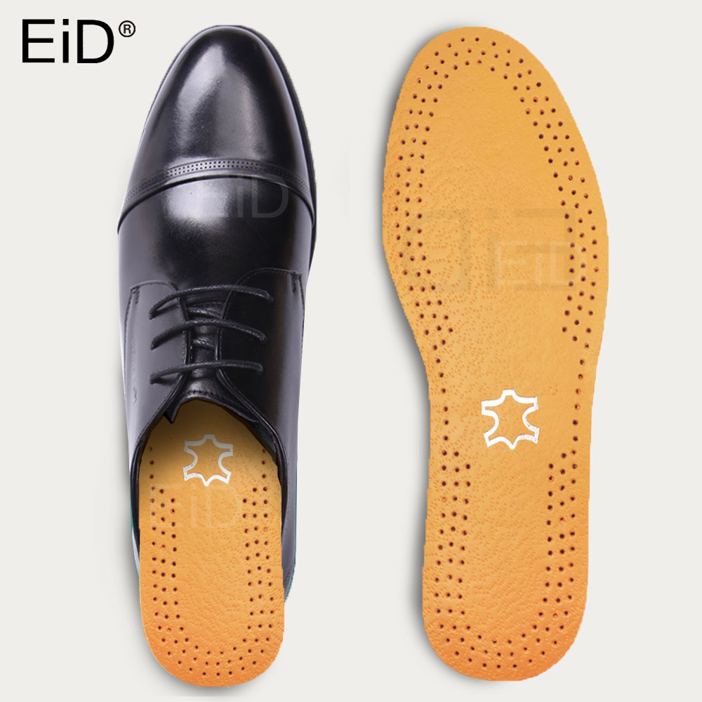 EiD Leather Breathable Deodorant Running Cushion Insoles For Feet  Insoles For Shoes Man Women Sole Orthopedic Pad Foot Care